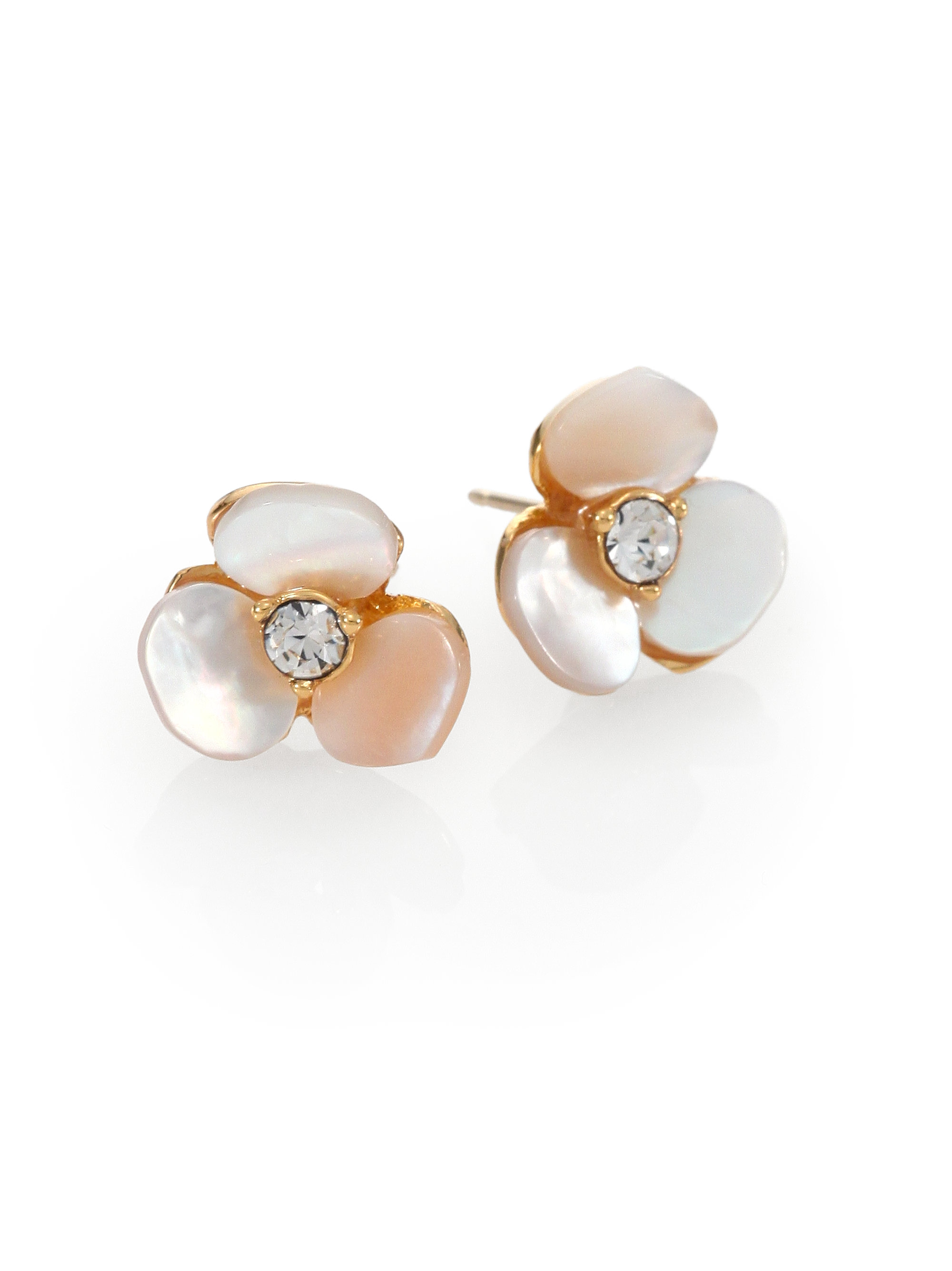 Lyst Kate Spade Disco Pansy Mother Of Pearl Mini Stud Earrings In