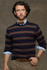 Polo Ralph Lauren Fair Isle Lambswool Crewneck - Lyst