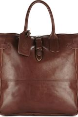 Ralph Lauren Leather Tote - Lyst