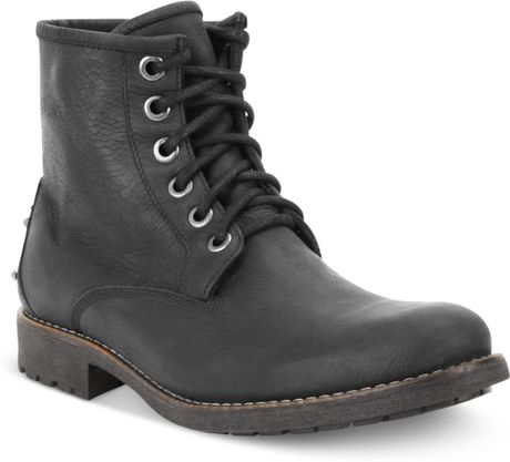 guess mens shoes spence boots in black for lyst