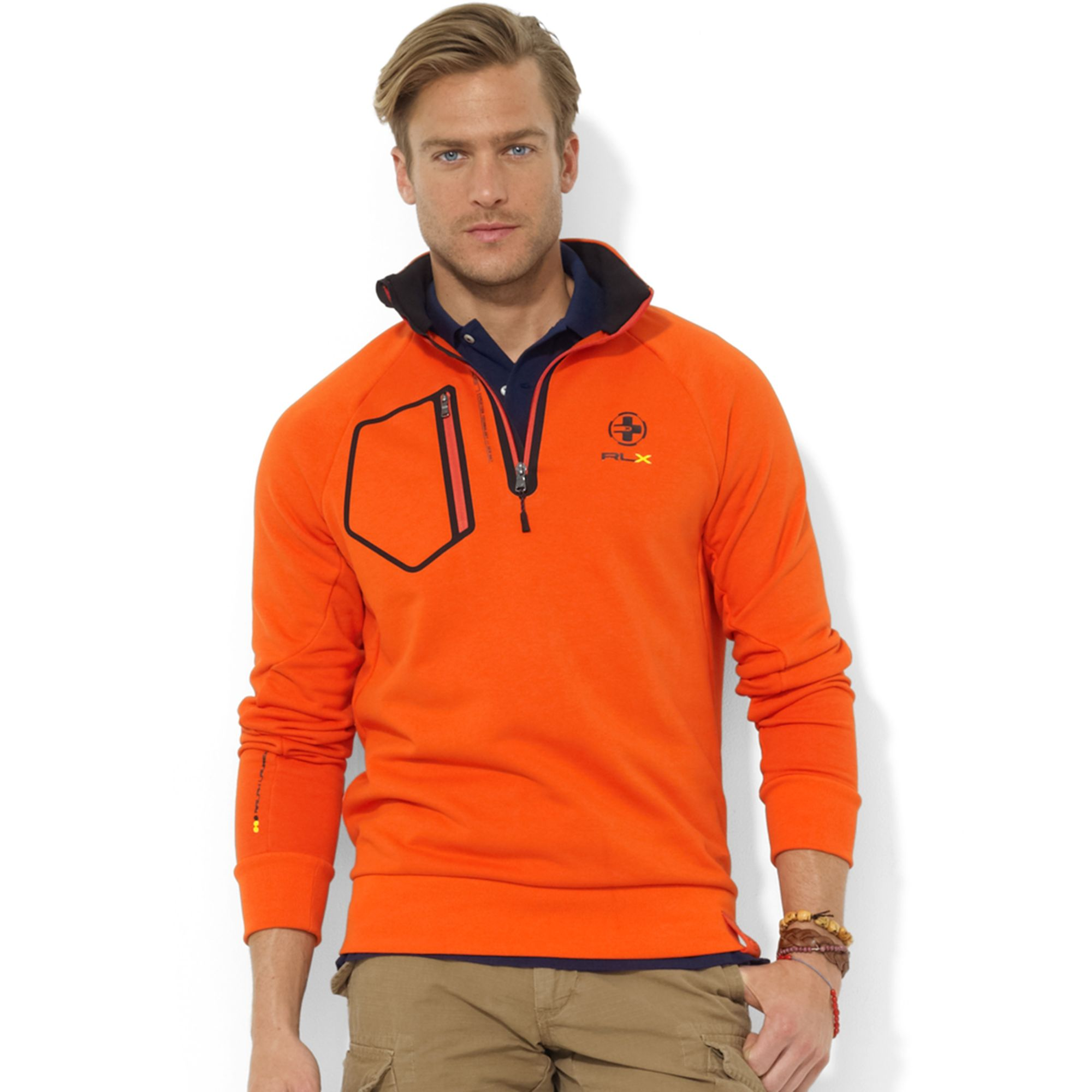 Ralph lauren Usa Polar Mock Neck Fleece Jacket in Blue for