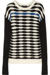 Tibi Patterned Chunky knit Sweater - Lyst
