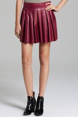 Alice + Olivia Alice Olivia Skirt Box Pleat Leather - Lyst