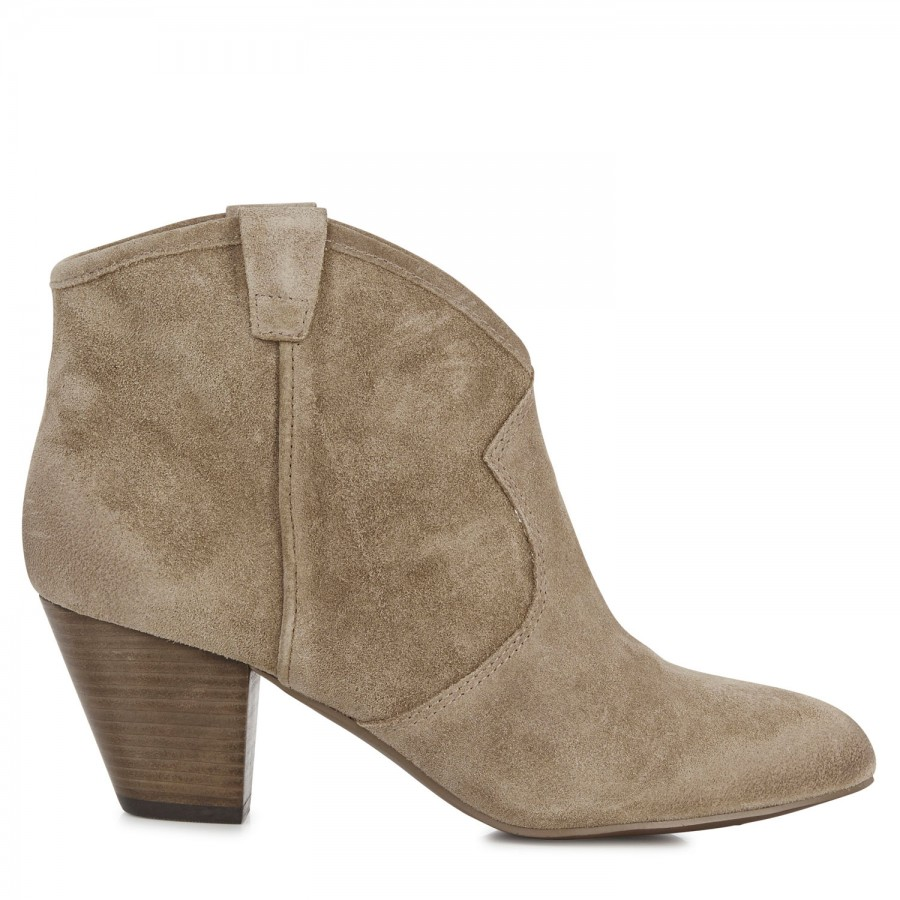 ash jalouse brushed suede ankle boots in beige gray lyst