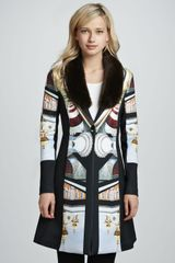 Clover Canyon Metro Palace Plate Jacket with Fauxfur Trim - Lyst