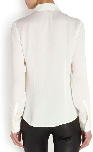 Michael Kors White Silk Blouse 110