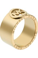 Michael Kors Fulton Ring Golden - Lyst
