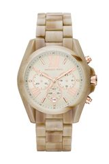 Michael Kors Midsize Sand Acetate Bradshaw Chronograph Watch - Lyst