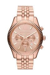 Michael Kors Oversize Rose Golden Stainless Steel Lexington Chronograph Watch - Lyst