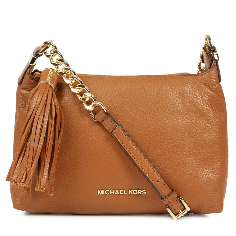 29e85dab134d56 Michael Kors Weston Grained Leather Crossbody Bag in Brown - Lyst
