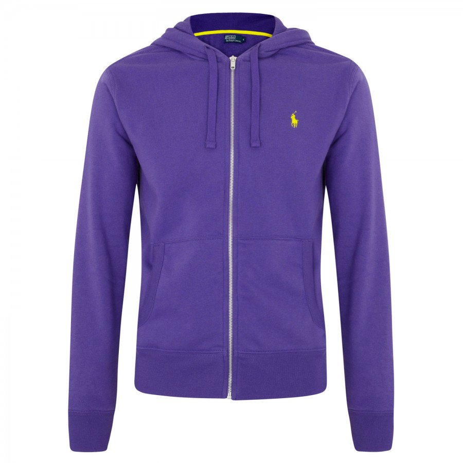 polo ralph lauren jersey sweatshirt in purple for men lyst. Black Bedroom Furniture Sets. Home Design Ideas