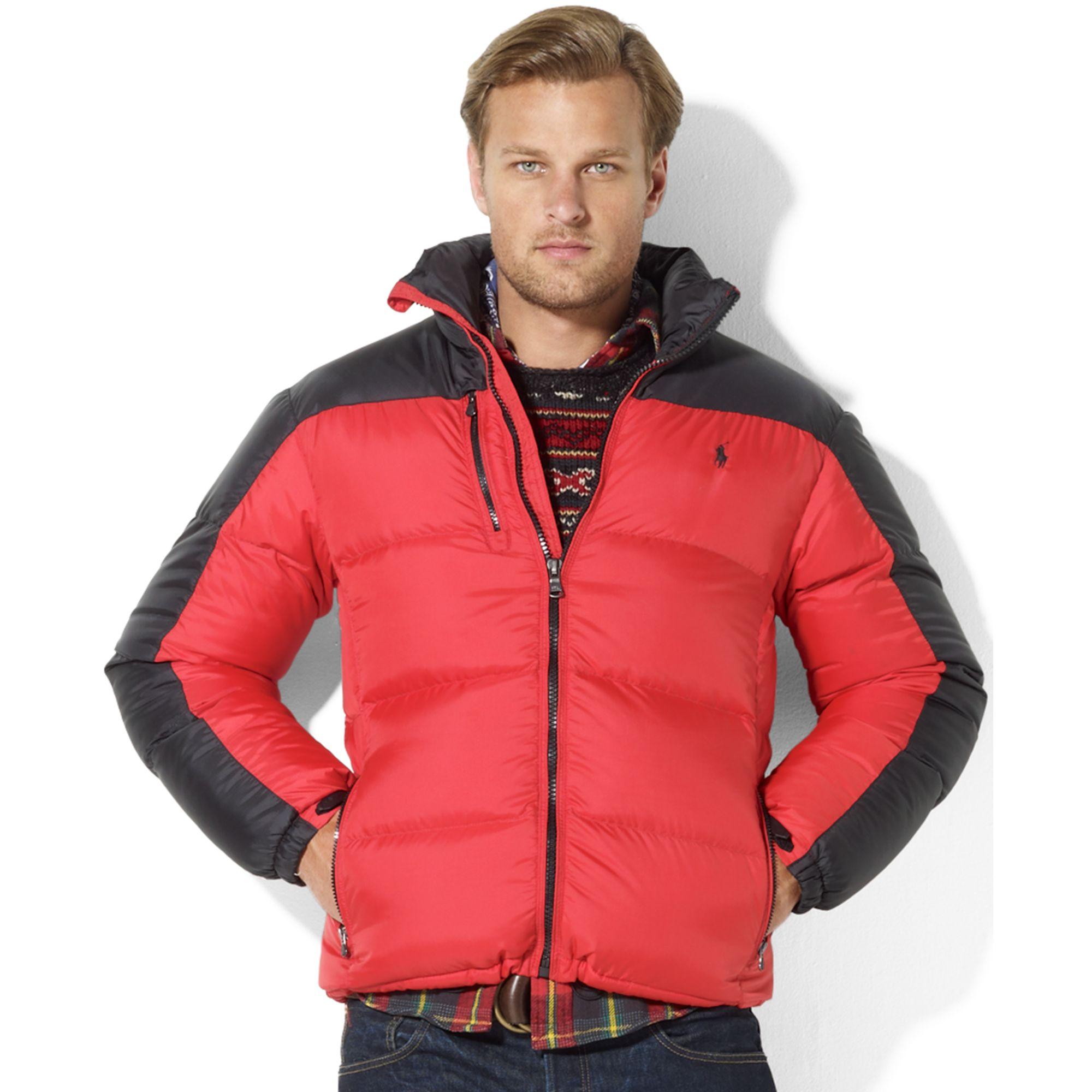 b558d4e07f5 Lyst - Ralph Lauren Snow Polo Core Trek Down Jacket in Red for Men