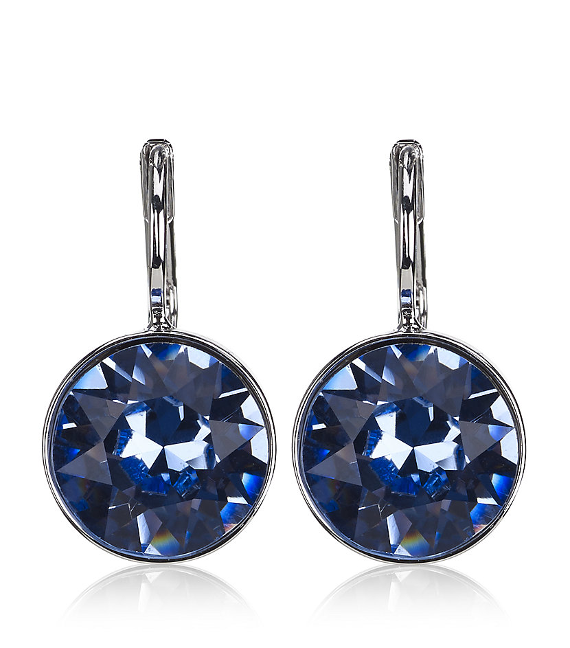 swarovski mini earrings swarovski mini light earrings in blue sapphire lyst 3403