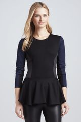 Torn Judy Colorblock Peplum Top - Lyst