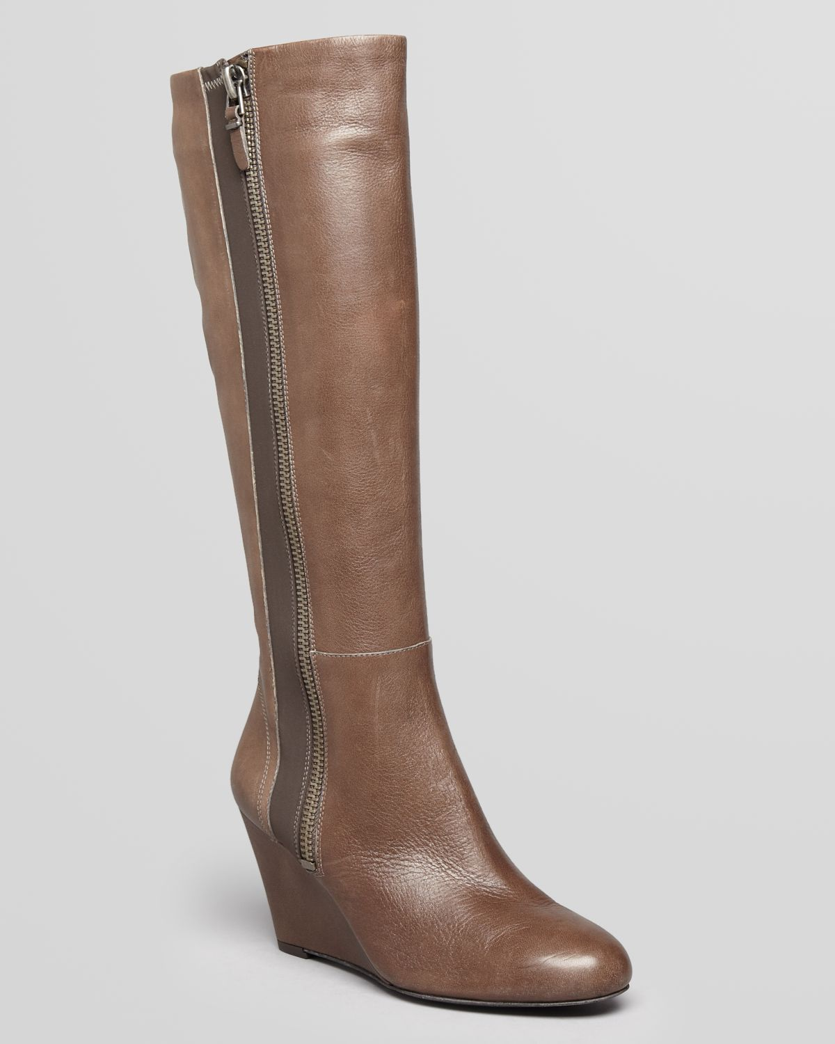 via spiga wedge boots felipa in brown grey lyst
