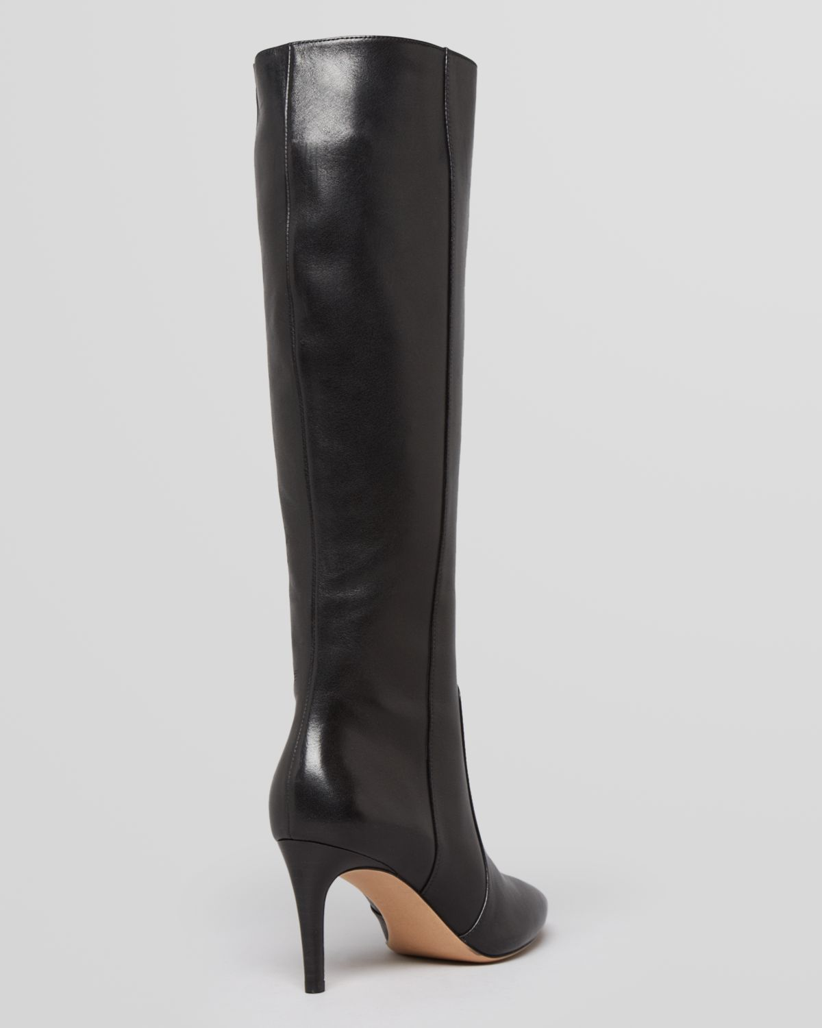 Via spiga Pointed Toe Tall Dress Boots Dacia High Heel in Black | Lyst