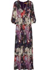 Alice + Olivia Louisa Printed Crinkledchiffon Maxi Dress - Lyst