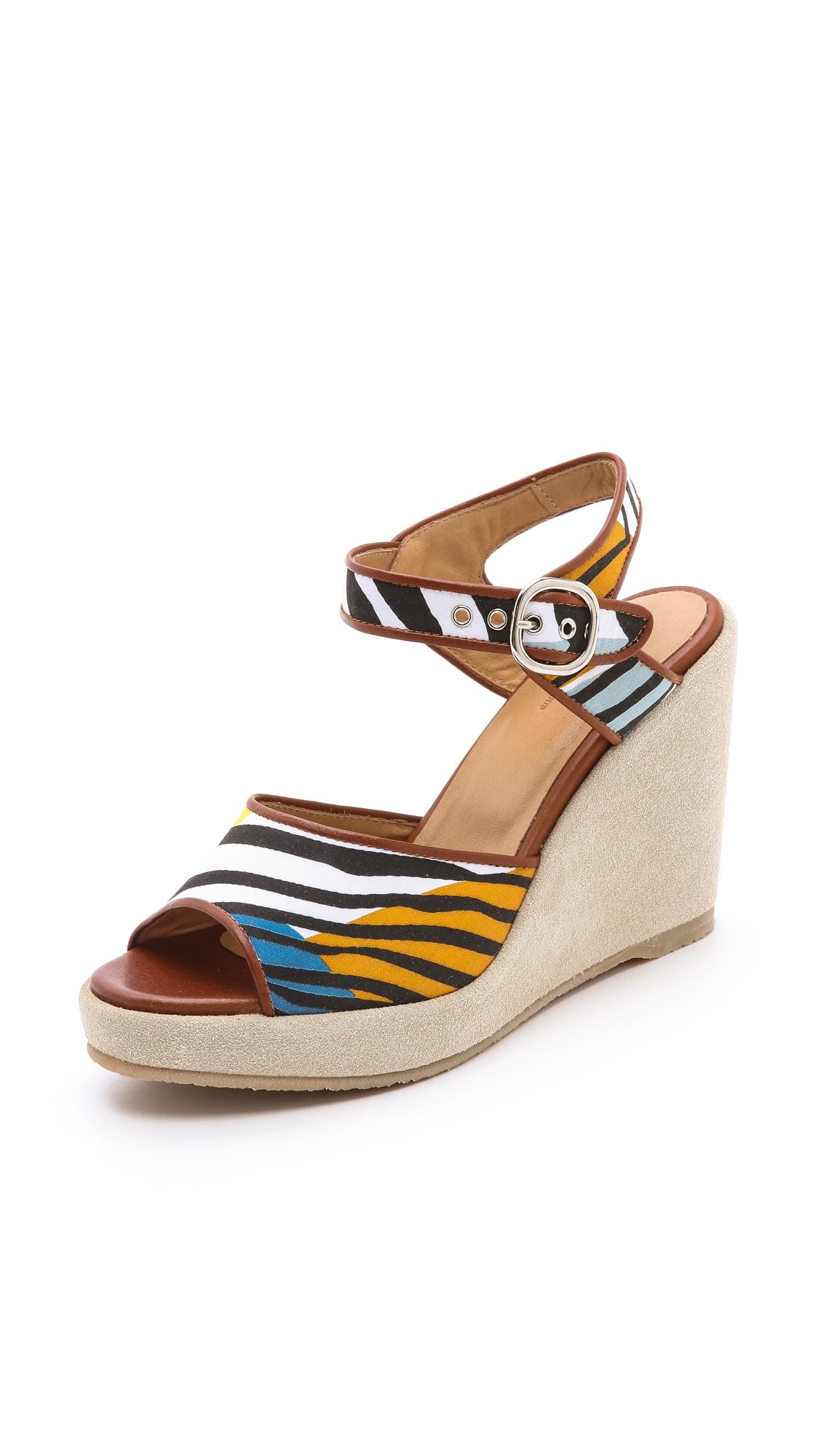 Lyst A P C Zebra Wedge Sandals
