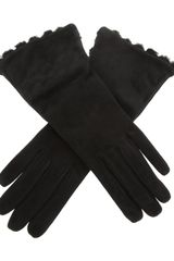 Bottega Veneta Leather Gloves - Lyst