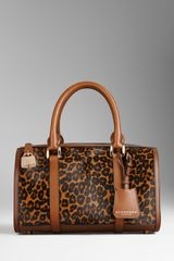 Burberry Animal Print and House Check Bowling Bag - Lyst