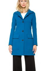 Derek Lam Patch Pocket Pea Coat - Lyst