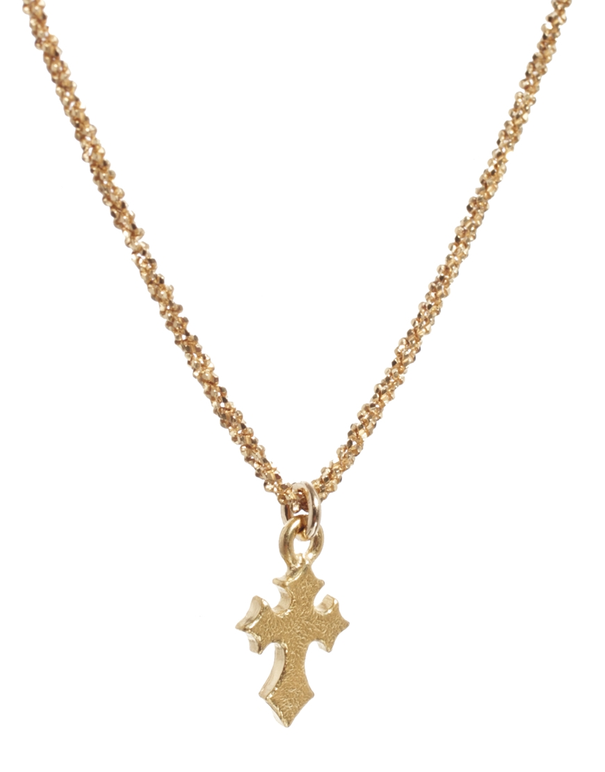 dogeared exclusive sparkle cross necklace in metallic lyst