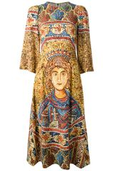 Dolce & Gabbana Printed Dress - Lyst
