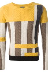 Etro Cable Knit Sweater - Lyst