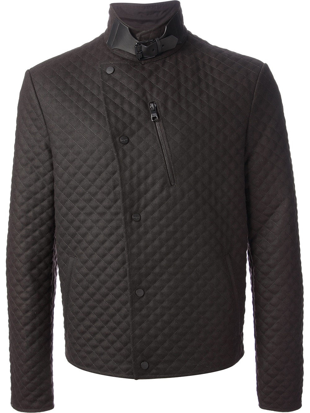 Ferragamo Quilted Jacket In Brown For Men Lyst