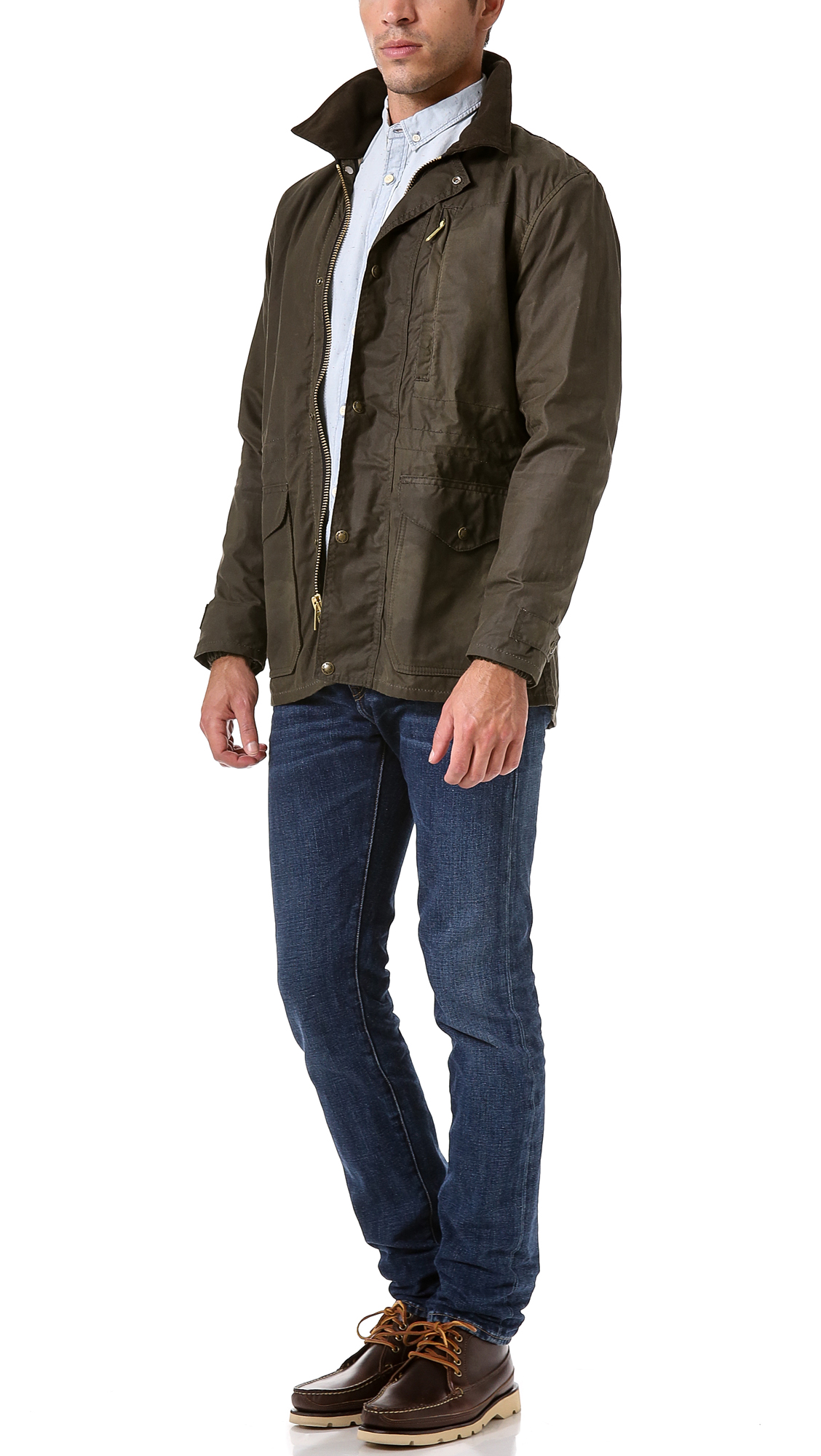 Filson Cover Cloth Weekender Coat in Green for Men