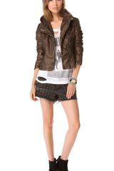 Free People Metallic Faux Leather Jacket - Lyst