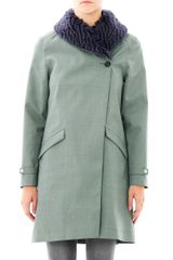 Hancock Mohair Collar Swing Coat - Lyst