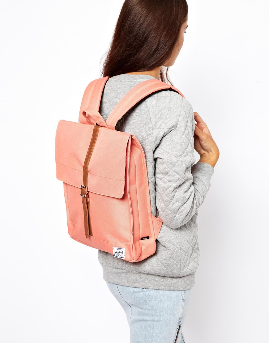 b6b50031da Lyst - Herschel Supply Co. Exclusive To Asos City Backpack in Pink