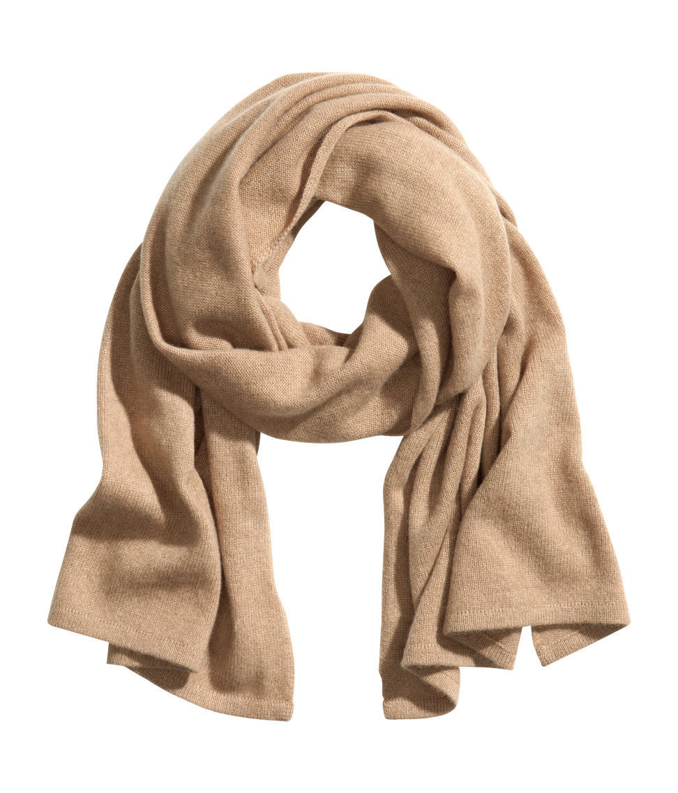 h m scarf in brown lyst