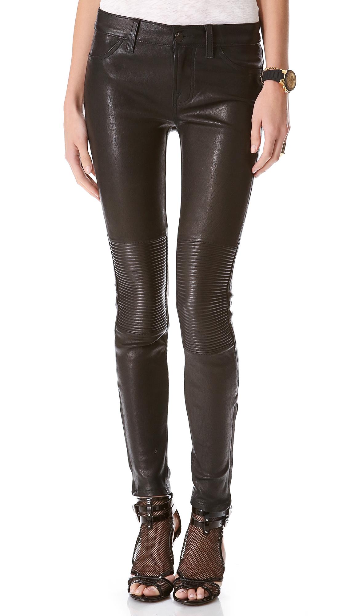 Lyst - J Brand Nicola Leather Moto Pants in Black