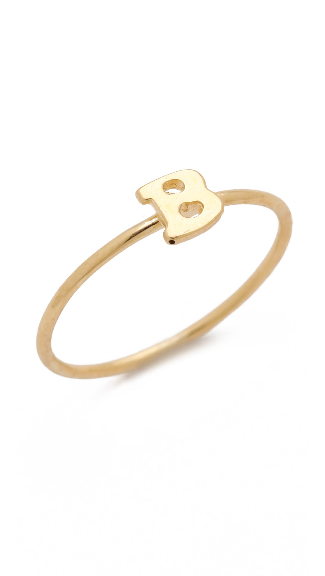 Jacquie aiche ja alphabet letter initial waif ring j in for Gold ring models with letters