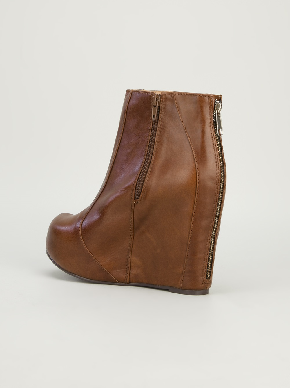 Lyst Jeffrey Campbell Pixie Ankle Boot In Brown