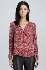 Joie Moema Heartprint Silk Blouse - Lyst