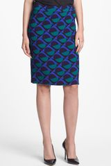 Marc By Marc Jacobs Etta Print Pencil Skirt - Lyst