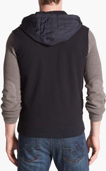 Michael Kors Quilted Hooded Vest In Black For Men Lyst
