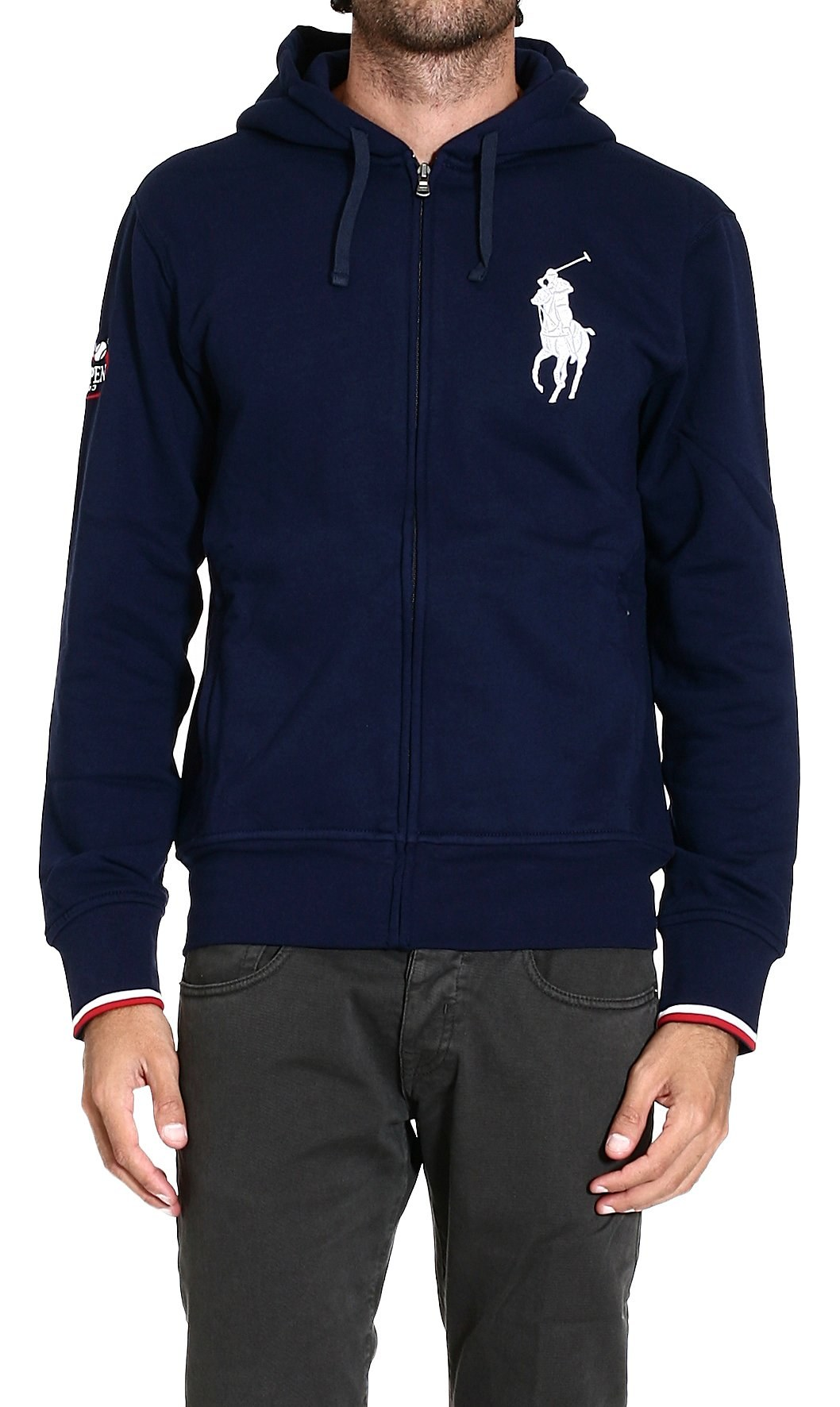 polo ralph lauren sweater sweatshirt with hood big pony in. Black Bedroom Furniture Sets. Home Design Ideas
