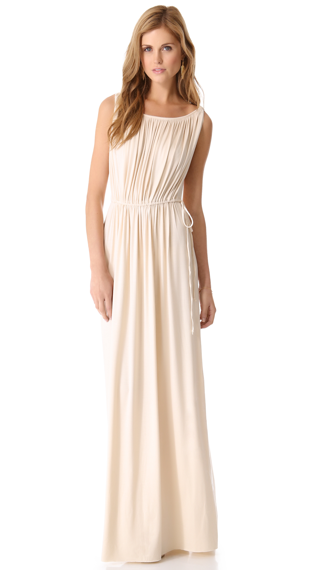 Rachel pally grecian long dress in beige cream lyst
