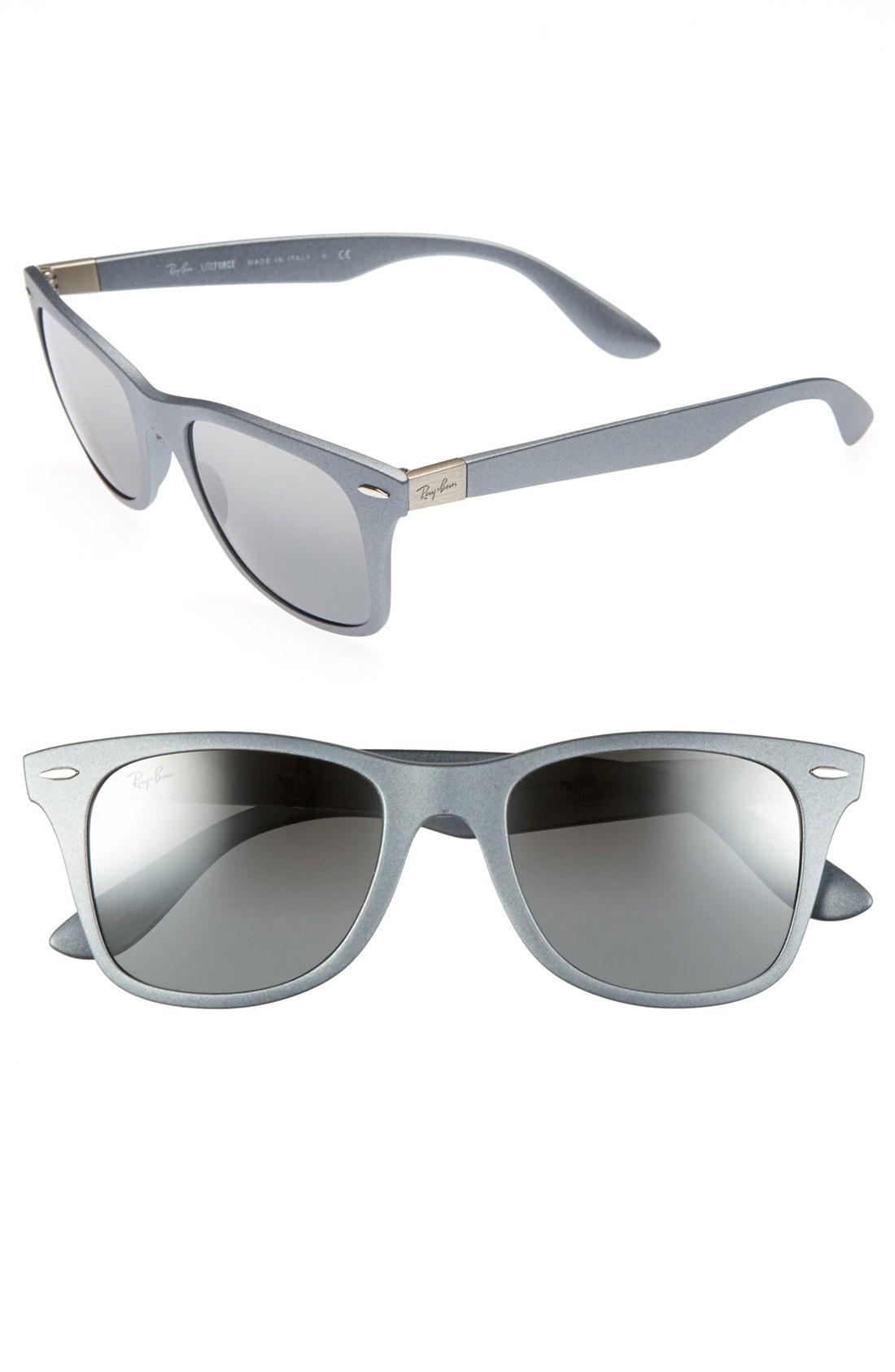 4fa7867591 Lyst - Ray-ban Tech Liteforce Wayfarer Sunglasses in Metallic for Men