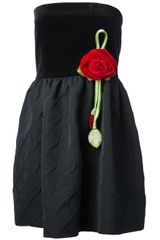 RED Valentino Strapless Dress - Lyst