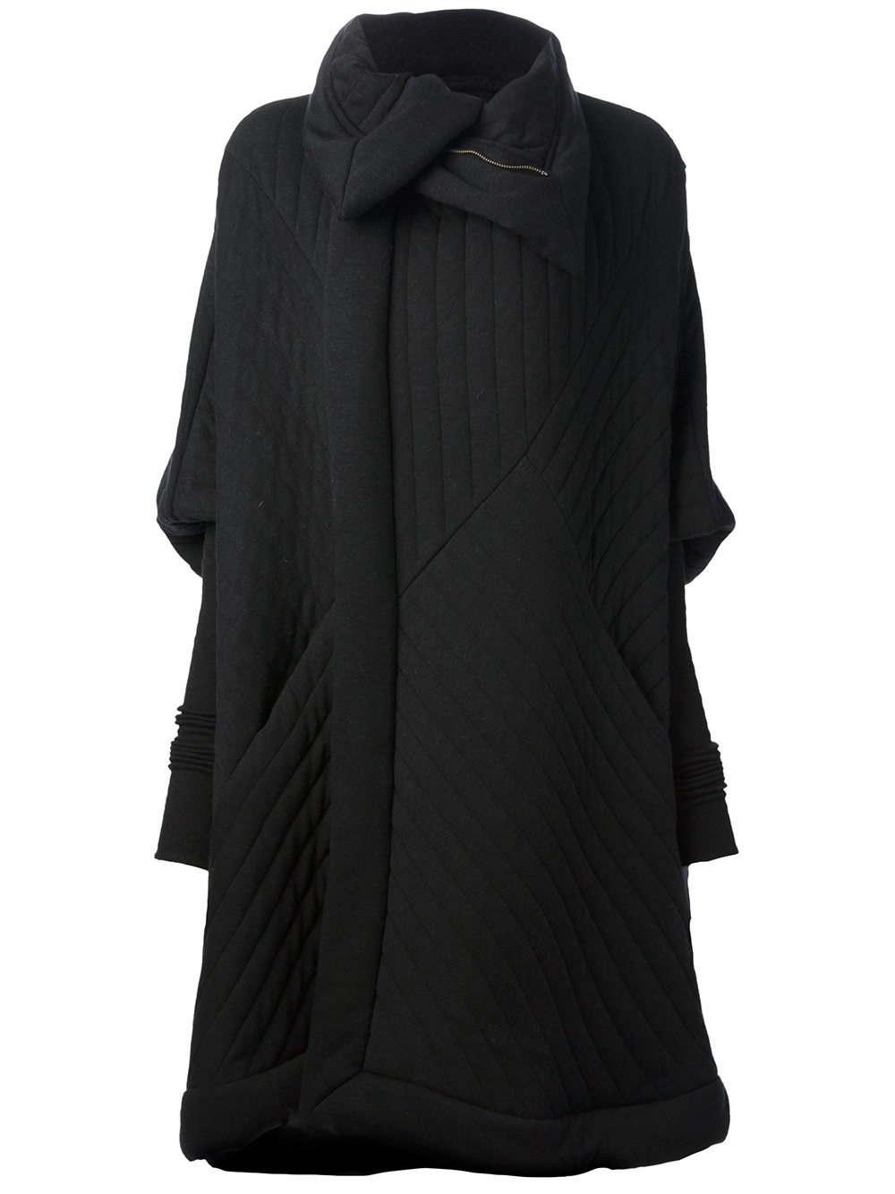 Rick Owens Lilies Oversize Coat In Black Lyst
