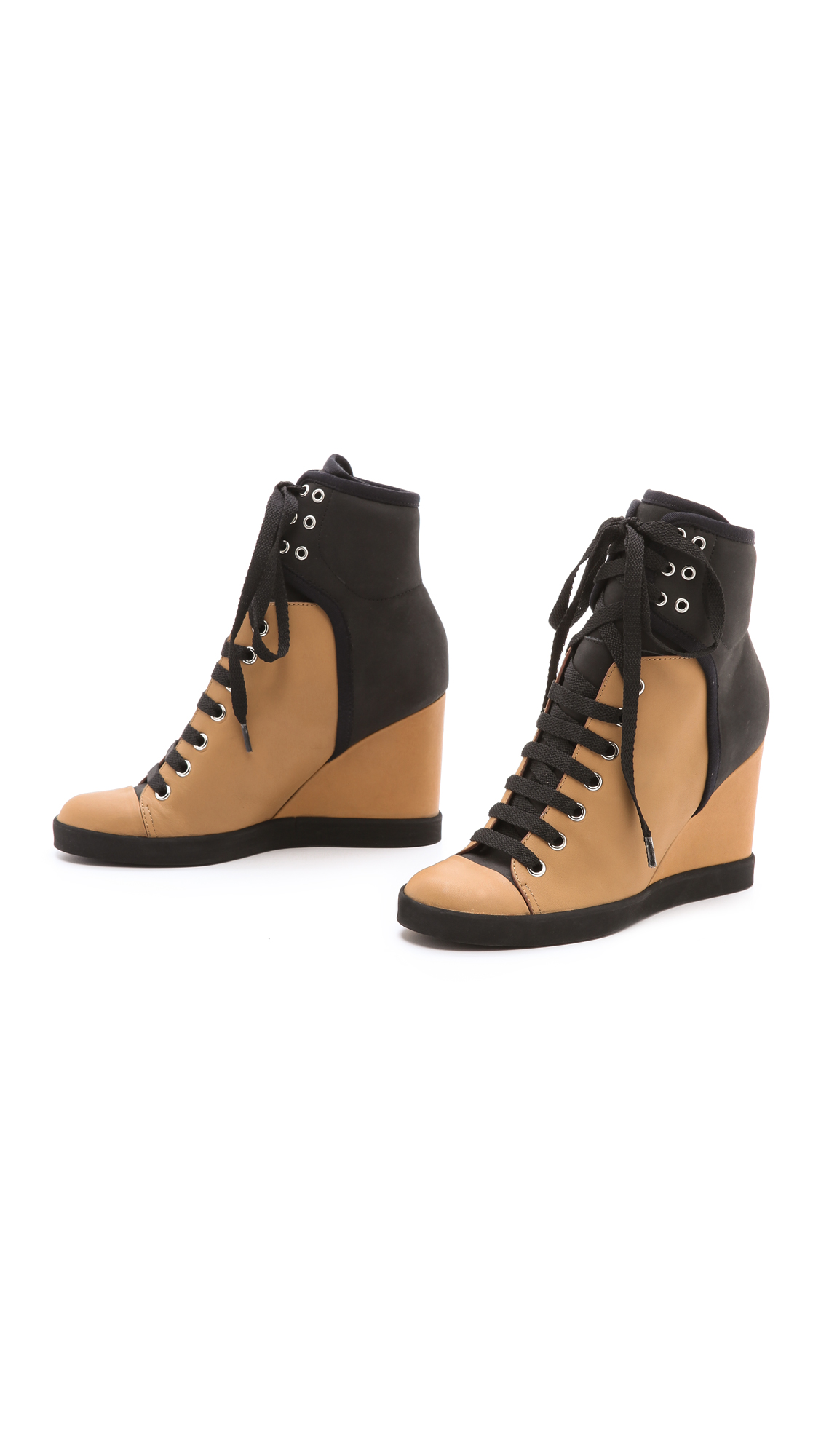 see by chlo wedge sneakers in brown lyst. Black Bedroom Furniture Sets. Home Design Ideas