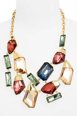 St. John Collection Crystal Bib Necklace - Lyst
