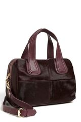 Steven By Steve Madden Calf Hair Satchel in Purple (Aubergine) - Lyst