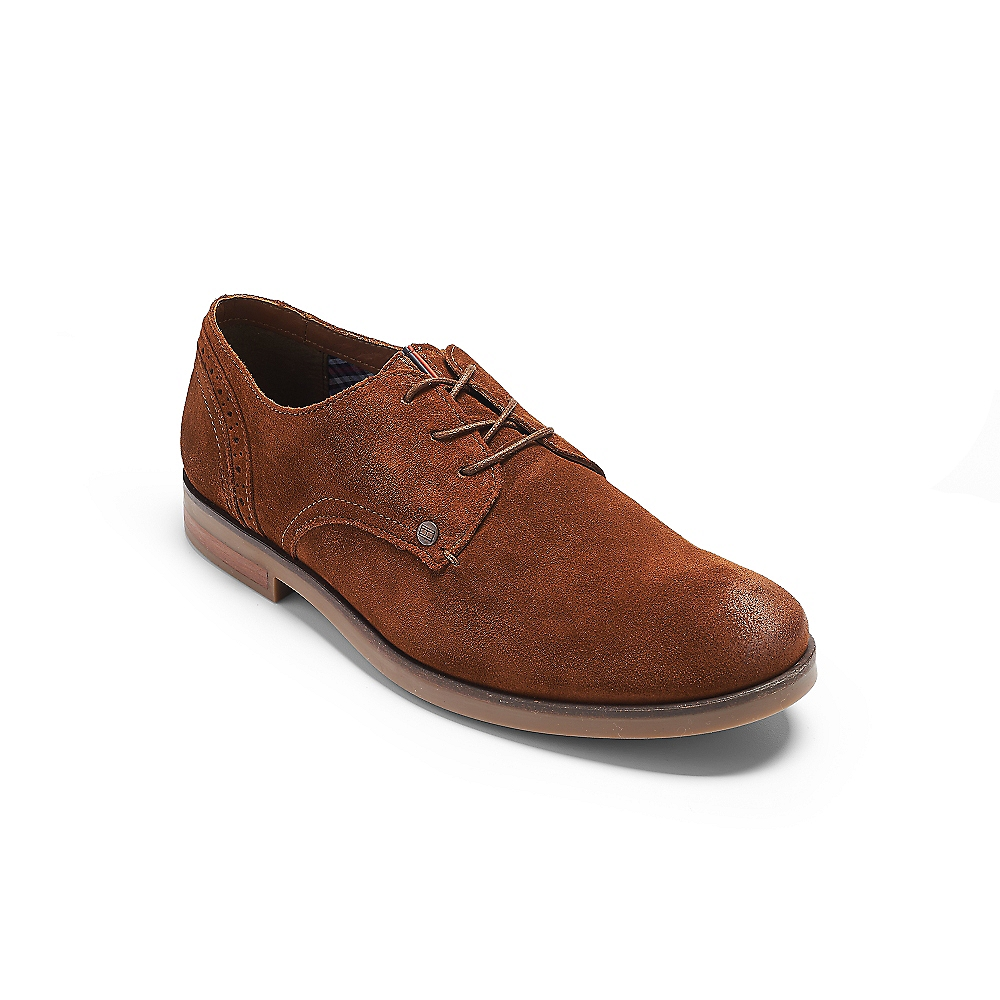 hilfiger suede oxford shoe in brown for winter