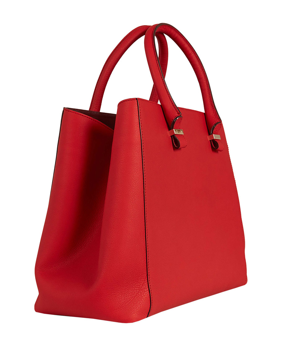 Victoria beckham Red Liberty Leather Tote Bag in Red | Lyst